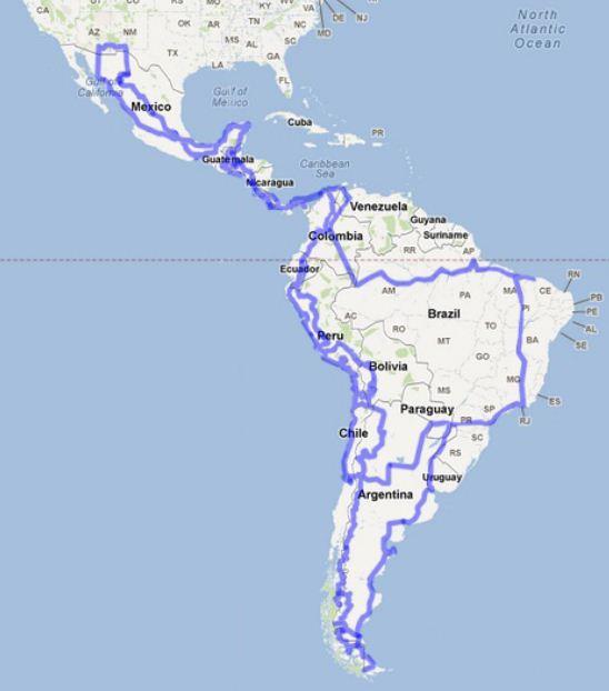 Motorradtour Zentral- und Südamerika