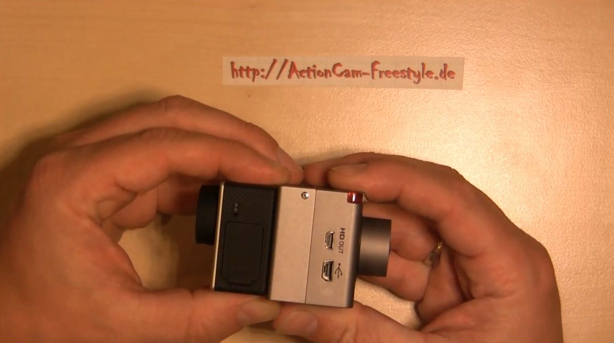 Actionpro X7 vs GoPro Hero3 Abmessungen