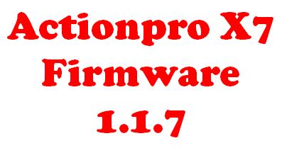 Actionpro X7 Firmware Update