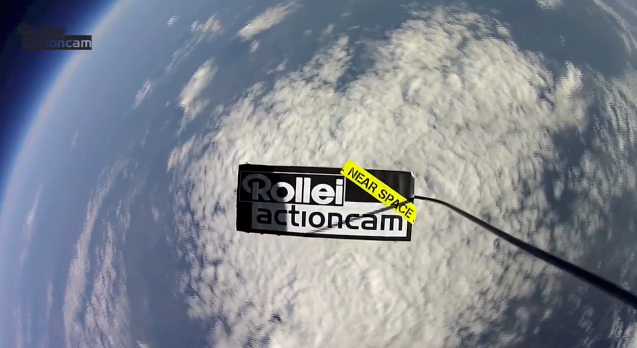 Stratosphären Flug Rollei Actioncams