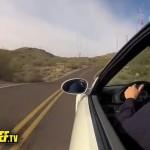 BMW M3 in den Felsen